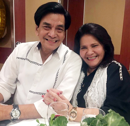 Andrea proudly shares the photo of her parents who are celebrating their 41st wedding anniversary.