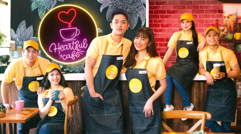 The cast of 'Heartful Cafe' led by David Licauco and Julie Anne San Jose.