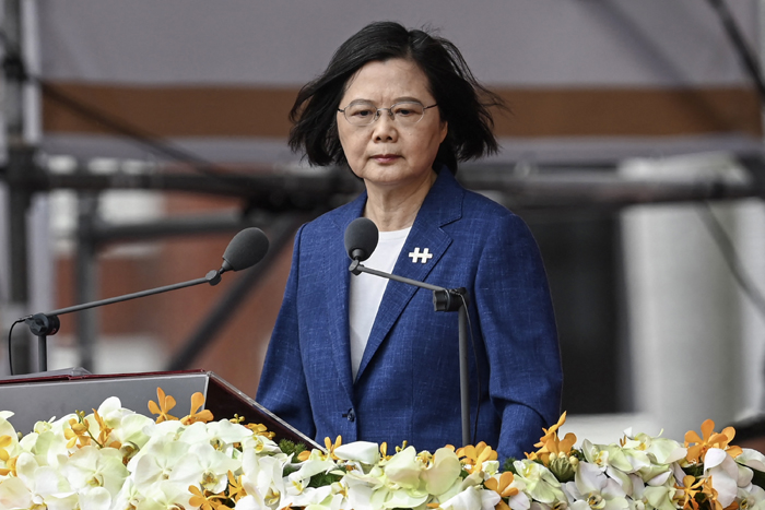 Taiwan leader says island will not bow to China