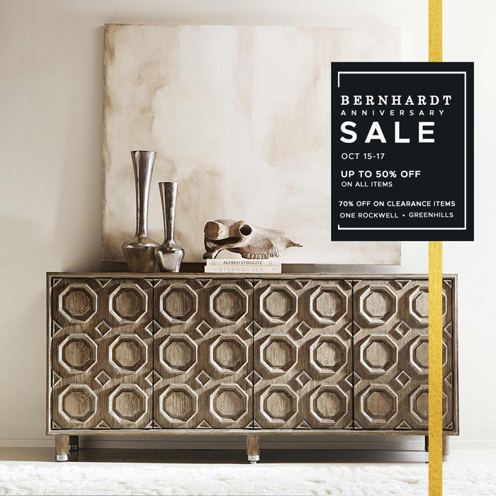 Bernhardt celebrates its 5th with hope and reassurance up to 50% off on all collections