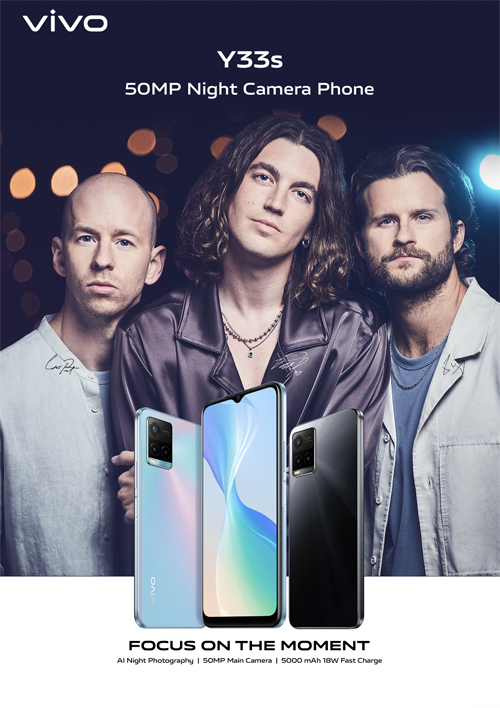 Experience clearer shots, powerful imaging qualities with all-new vivo Y33s