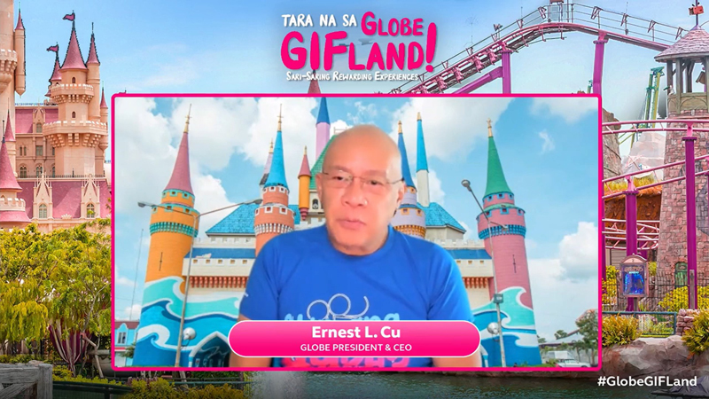 Globe's President and CEO Ernest Cu at the recent launch of GifLand.