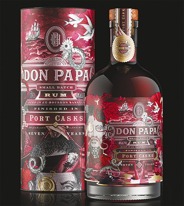 RICH AND RED. Don Papa Port Cask features a dark, spicy character with a warming, lingering fruitiness.
