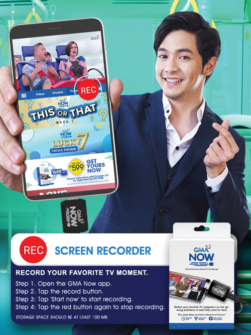 Alden Richards as the face of GMA Now.
