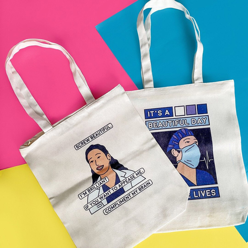 Compliment my tote bag @fanshackph