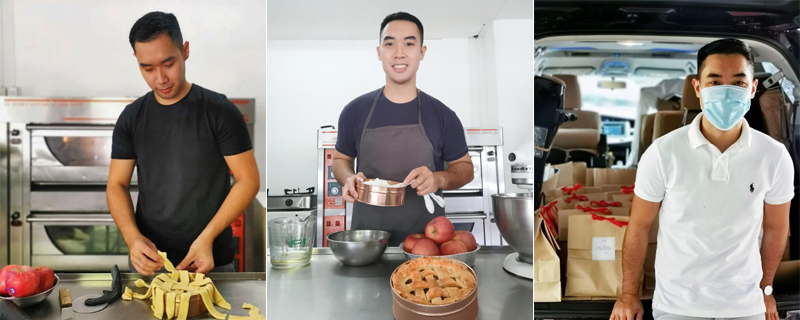 HAVE YOUR PIE AND EAT IT TOO. Flight attendant-turned-pastry chef Paul Pamaran Zamora is able to survive after being laid off from his job, and at the same time keep his late mother's legacy alive with his online pastry shop Lulu's Pie.