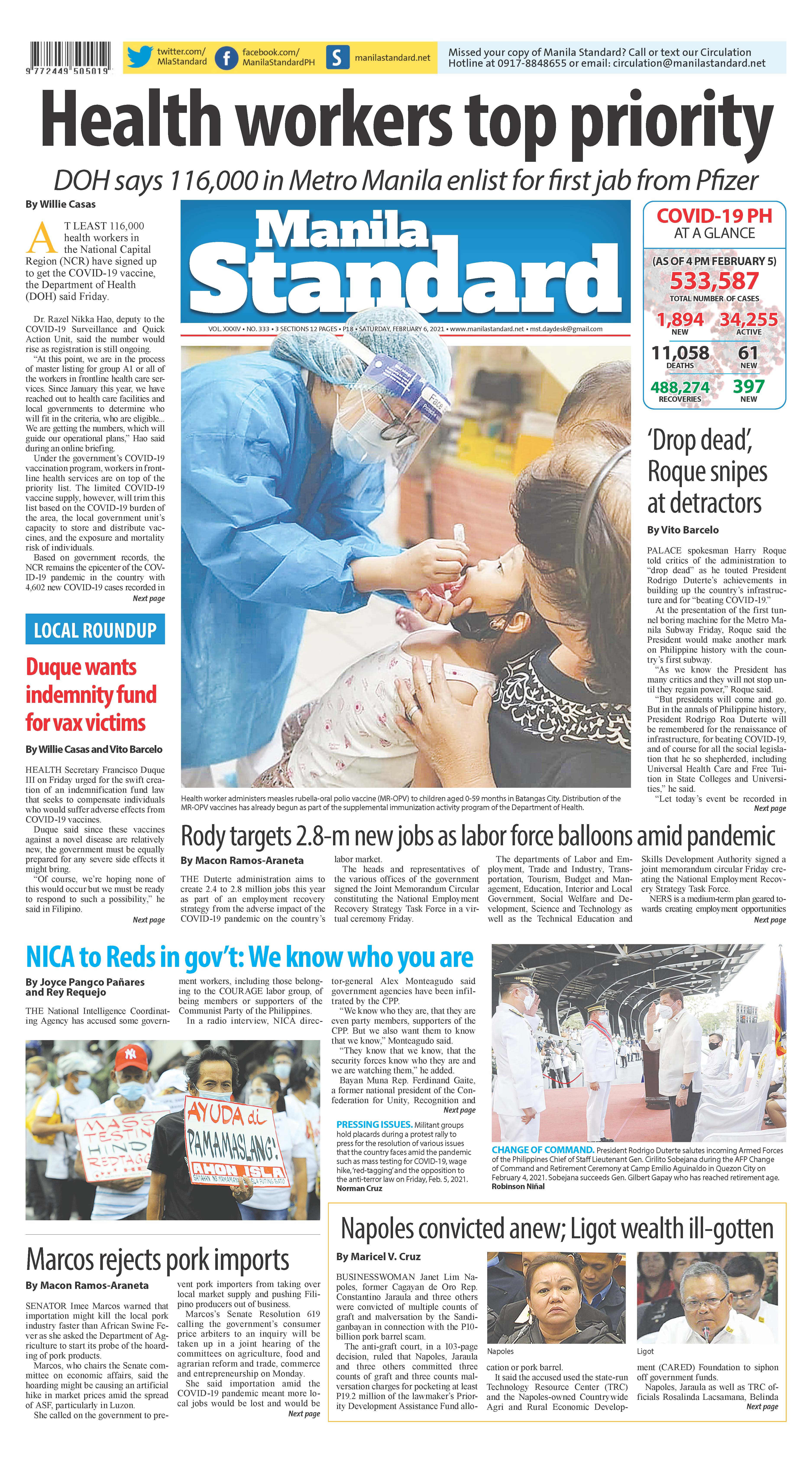 Saturday Print Edition (2/6/2021)