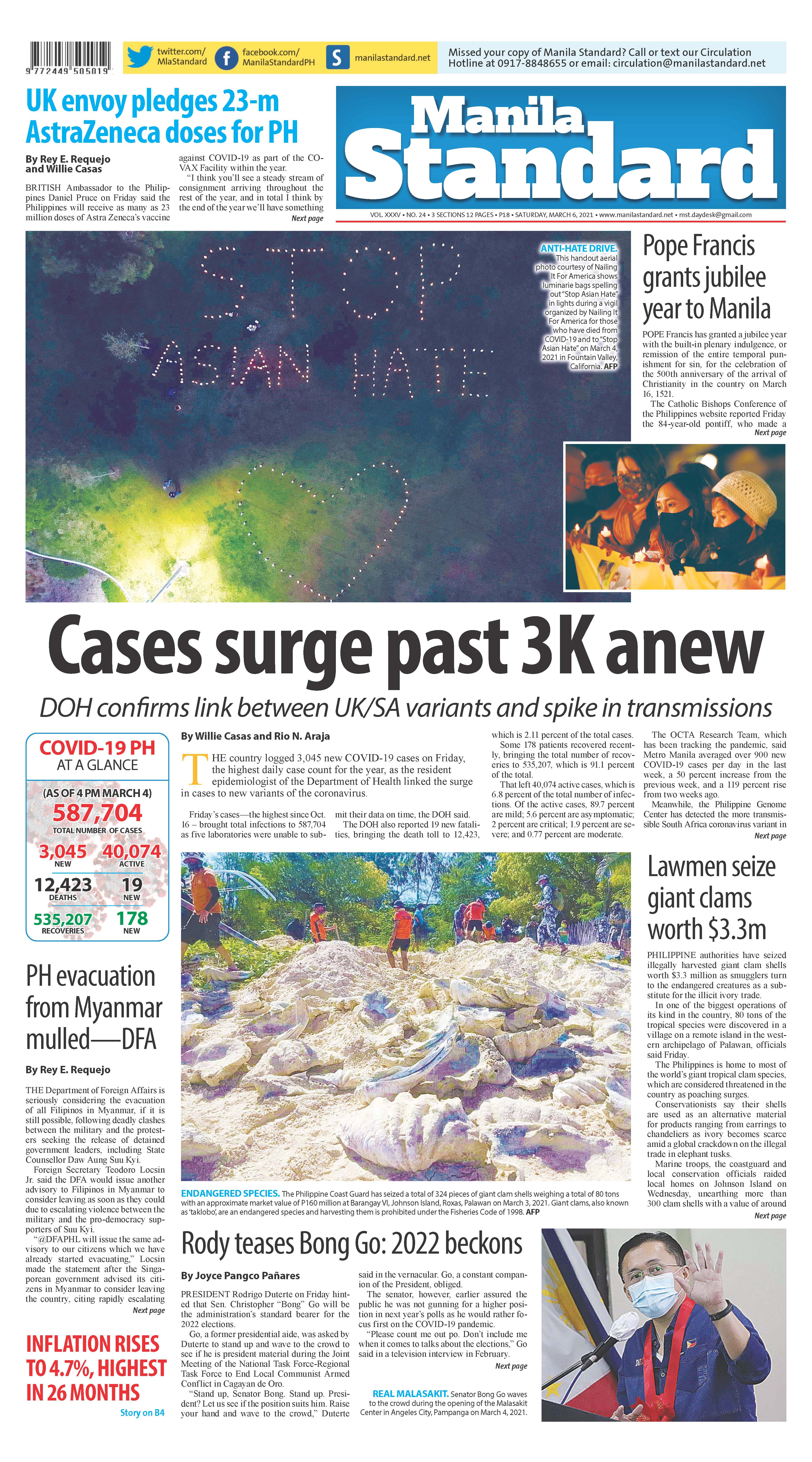 Saturday Print Edition (3/6/2021)