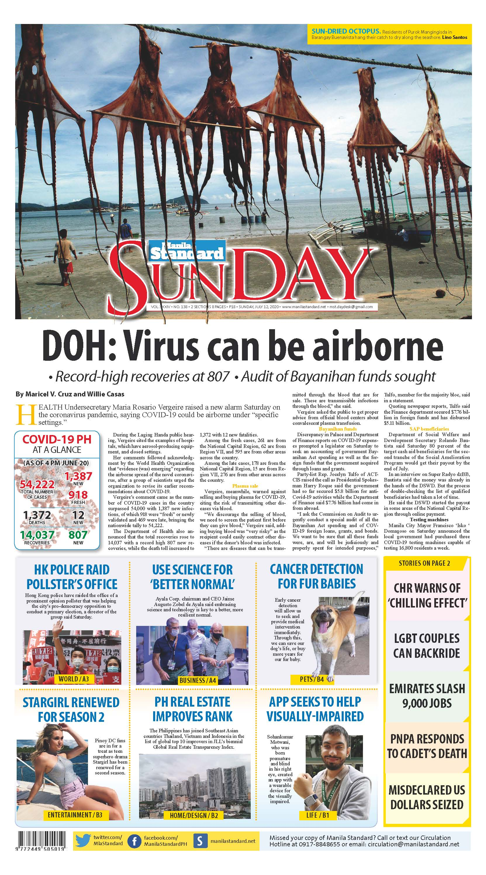 Sunday Print Edition (7/12/2020)