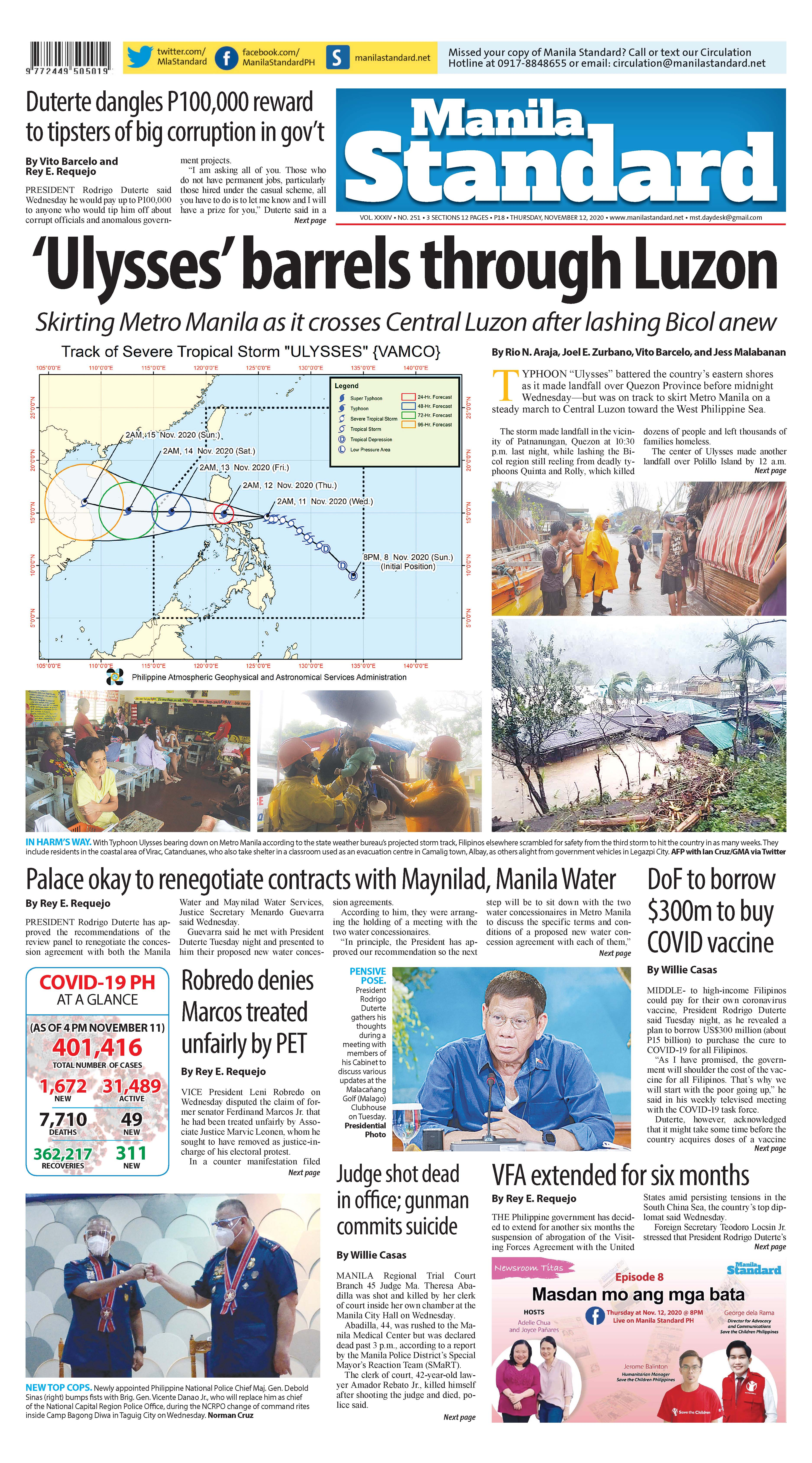 Thursday Print Edition (11/12/2020)