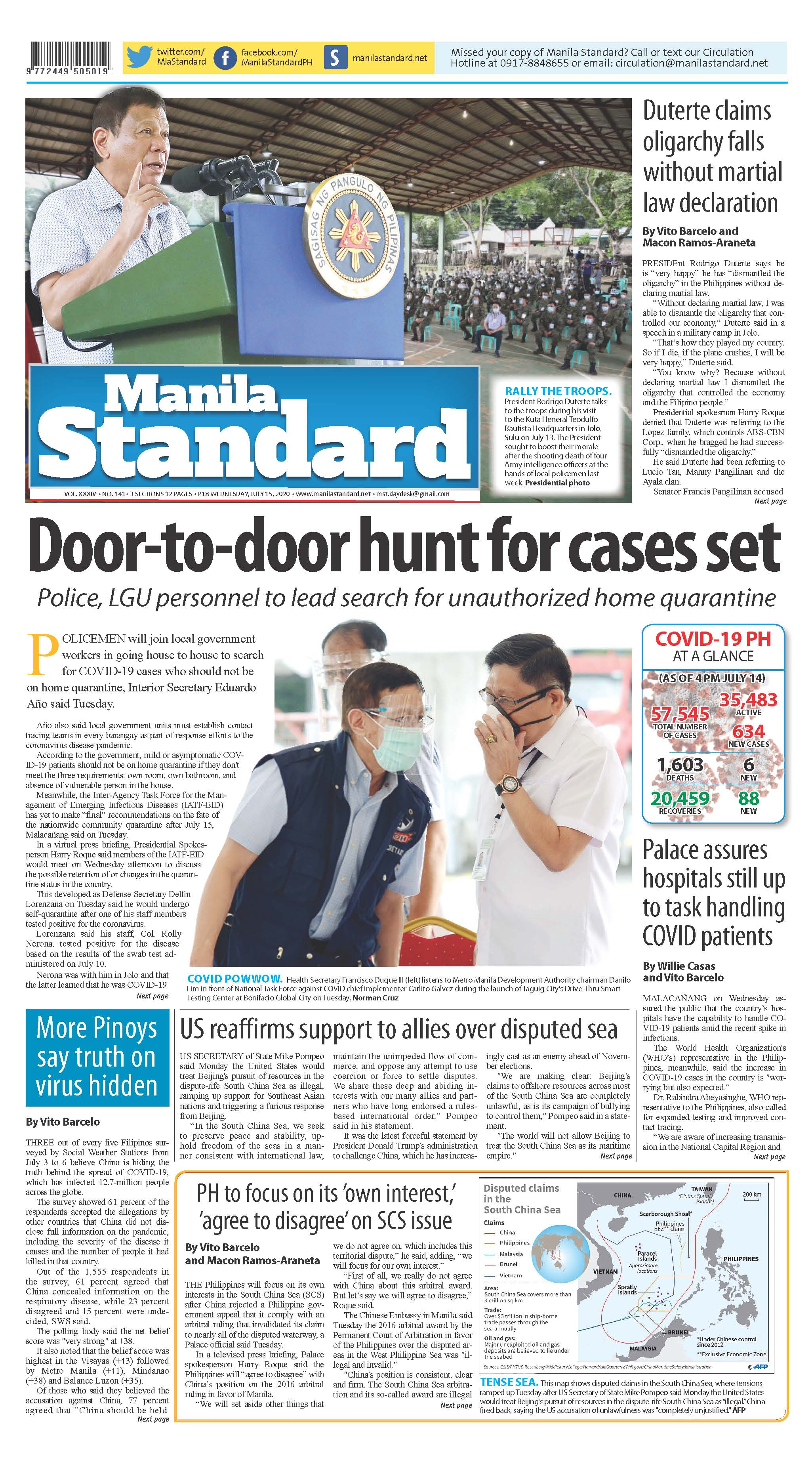 Wednesday Print Edition (7/15/2020)