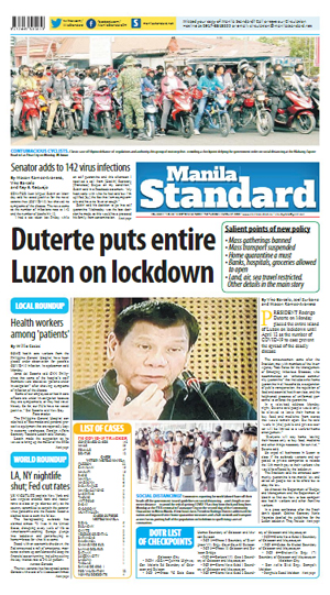 Tuesday Print Edition (03/17/2020)