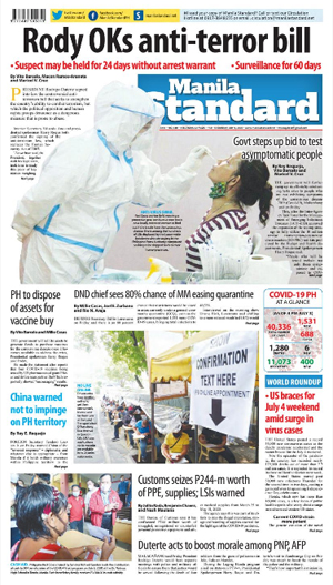 Saturday Print Edition (07/04/2020)