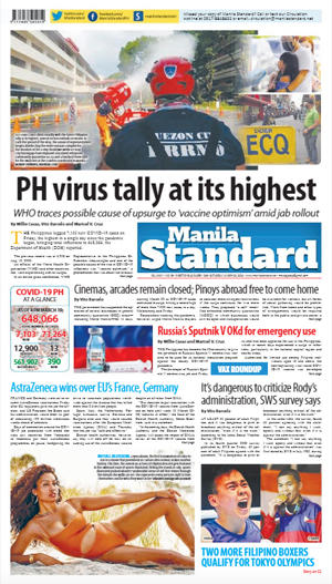 Saturday Print Edition (03/20/2021)
