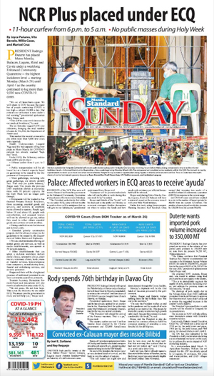 Sunday Print Edition (03/28/2021)