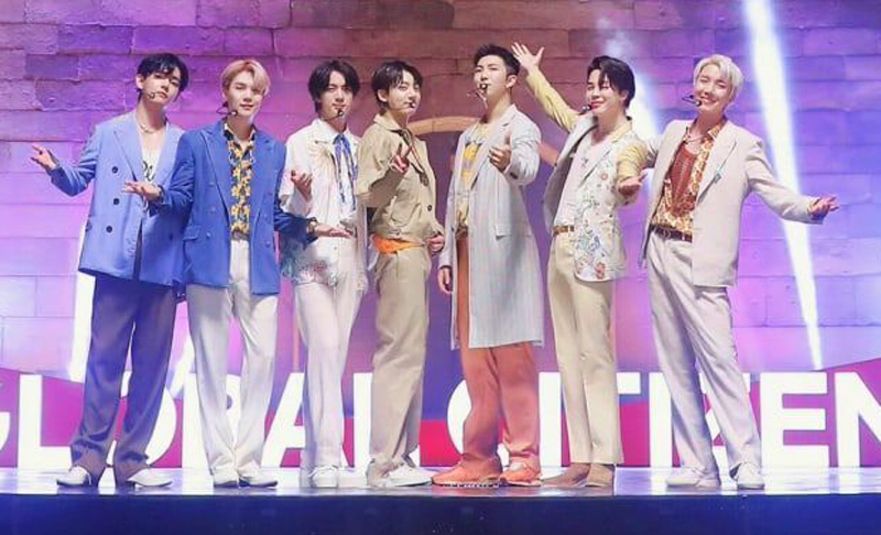 The broadcast of 'Global Citizen Live' on social media opened with a pre-recorded performance by pop superstar BTS in Seoul.